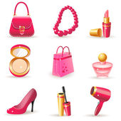 Lady's dream icons — Stock Vector