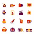 Multimedia icons — Stock Vector #7690959