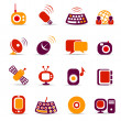 Communication icons — Stock Vector #7690965