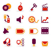 Multimedia icons — Stock Vector