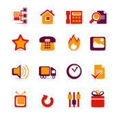 Icons for web sites — Stock Vector