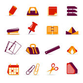 Office accessories icons — Stock Vector