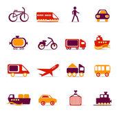 Iconos de transporte — Vector de stock
