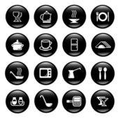 Kitchen utensil icons — Stock Vector