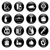 Cosmetic and hygiene icons — Stock Vector