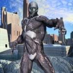 Futuristic soldier hero — Stock Photo