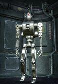 Robot prototype chromed — Stock Photo