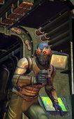 Futuristic soldier secret spy — Stock Photo