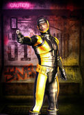 Soldato futuristico manga secret agent — Foto Stock