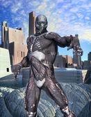 Eroe futuristico soldato — Foto Stock
