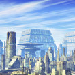Futuristic city background — Stock Photo #7183773