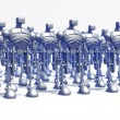 Stock Photo: Robots formation