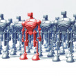 Robots formation - Stock Photo