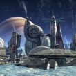 Jupiter moon colony — Stock Photo #7189261