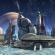 Stock Photo: Jupiter moon colony
