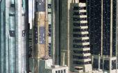 未来都市の背景 — ストック写真
