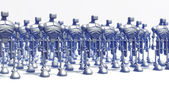 Robots formation — Stock Photo