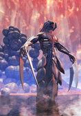 Alien space monster demon — Stock Photo