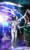 Time machine traveller — Stock Photo