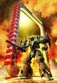Futuristic soldier robot — Stock Photo