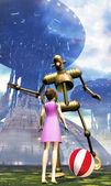 Robot positronic asimov — Stock Photo