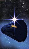 Raumschiff rendezvous rama — Stockfoto