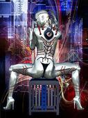 Cyberpunk Girl — Stock Photo