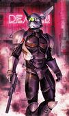 机器人战士 — 图库照片