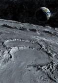 Moon surface — Stock Photo