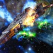 Spaceships battle — Stock Photo