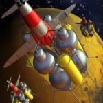 Mars landing vintage — Stock Photo #7205717