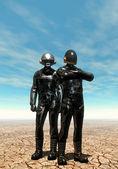 Robots androides — Foto de Stock