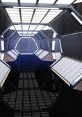 Spaceship corridor — Stock Photo