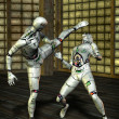 martial arts robot kung fu — Stock Photo