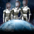 Ufo alien rule the world — Stock Photo #7219116