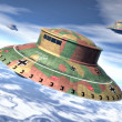Stock Photo: Ufo alien nazi wwii