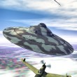 Ufo nazi flying saucer - Stock Photo