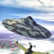 Stock Photo: Ufo nazi flying saucer