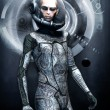 Ufo alien in spacesuit — Stock Photo #7219367