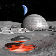 Ufo alien base on moon — Stock Photo #7219885