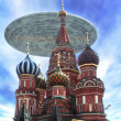 Ufo alien over Moscow — Stock Photo #7219933
