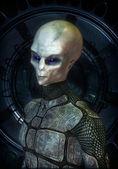 Ufo alien grey — Stock Photo