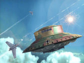 Ufo alien nazi wwii — Stock Photo