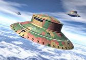 Ufo alien nazi wwii — Stock Photo