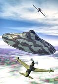Ufo nazi flying saucer — Stock Photo
