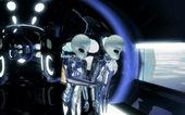 Ufo の異星人の宇宙船 — ストック写真
