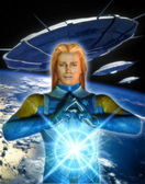 Ufo alien ashtar sheran — Stock Photo