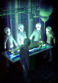 Ufo alien abduction experiments — Stock Photo