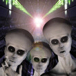 Ufo alien abduction — Stock Photo