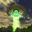 Ufo alien over forest — Stock Photo #7220085